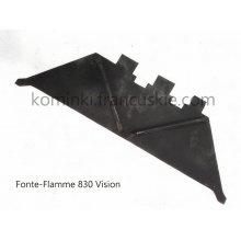 Deflektor żeliwny do kominka Fonte-Flamme 830Vision - dolny