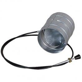 Przepustnica powietrza Ø150mm z cięgnem