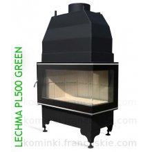 Lechma PL 500 Green SBJL-szyba boczna lewa - 13_5KW - wkład kominkowy z płaszczem wodnym