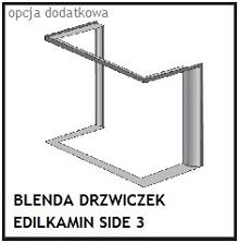 Opcja dodatkowa - blenda - ramka kominka SIDE 3